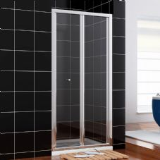 1100MM BI FOLD SHOWER DOORS